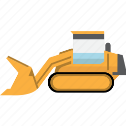 bulldozer, construction, earth mover, equipment, machinery, mining, mining vehicles icon