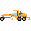 construction, earth mover, equipment, machinery, mining, mining vehicles icon