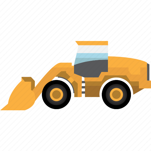 bulldozer, construction, earth mover, equipment, machinery, mining, mining vehicles icon