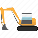 construction, earth mover, equipment, excavator, machinery, mining, mining vehicles icon