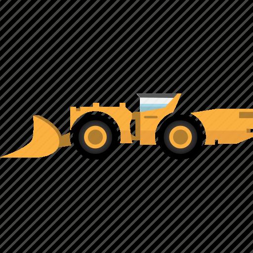 construction, earth mover, equipment, hard rock, mining, mining vehicles, underground icon