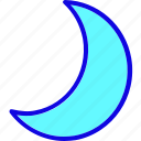 crescent, dark, moon, night, sky, sleep, weather