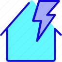 disaster, electricity, light, lightning, storm, thunder, wind icon