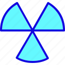 alert, attention, caution, danger, nuclear, sign, warning icon