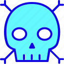 danger, halloween, head, horror, skeleton, skull, spooky