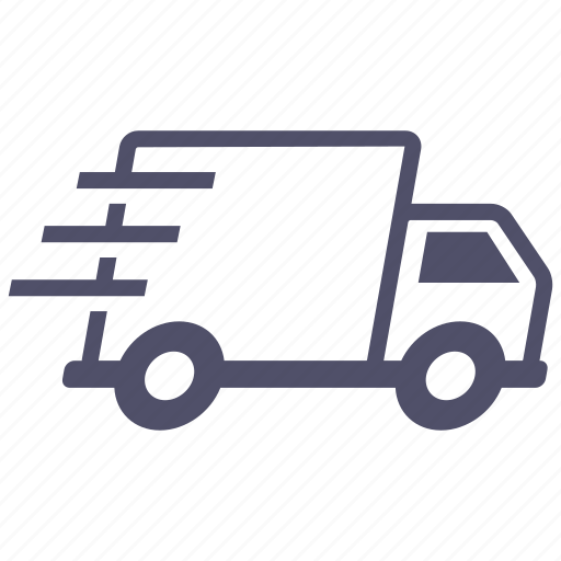 Delivery, fast, express, truck, shipping icon