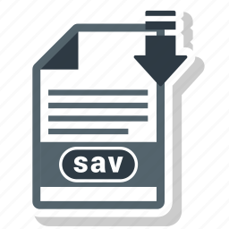 document, file, format, sav, type icon