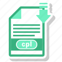 cpl, document, extension, format icon