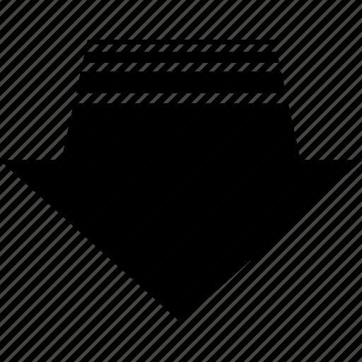 arrow, back, backwards, go, move, regress icon