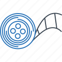 demo, demo reels, multimedia, recorder, reels icon
