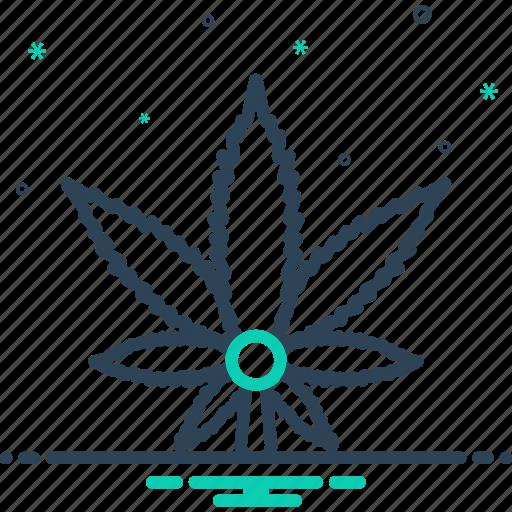 botanical, cannabis, garden, green, hemp, leaf, medical icon