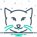 animal, cat, cute, domestic, kitten, kitty, kitty cat icon