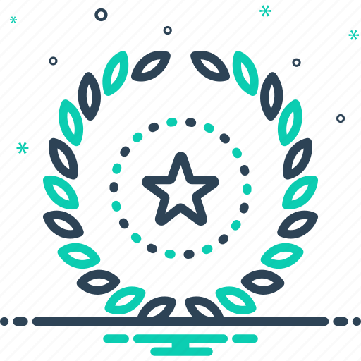 branch, decoration, frame, leaves, victory, wreath icon