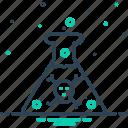 acid, beaker, bottle, chemical, danger, drug, liquid icon