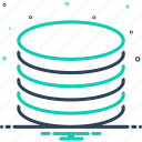analytics, coating, flake, layer, lode, panel, stratum icon