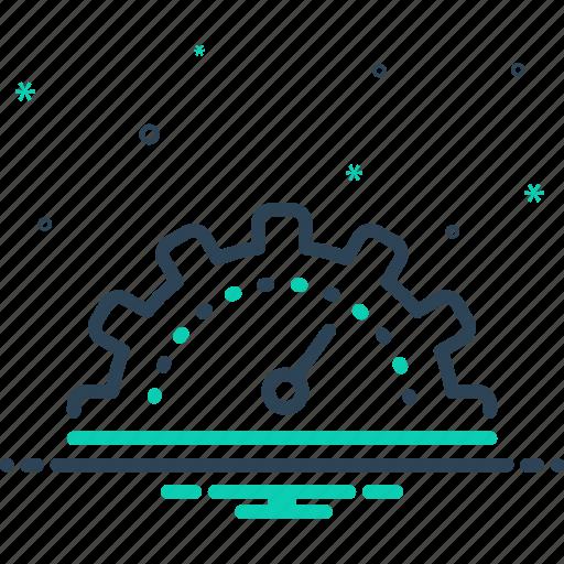 analyzer, capacity, efficient, gauge, optimization, panel, productivity icon