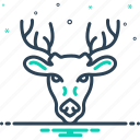 animal, antler, deer, forest, horn, hunting, wildlife icon