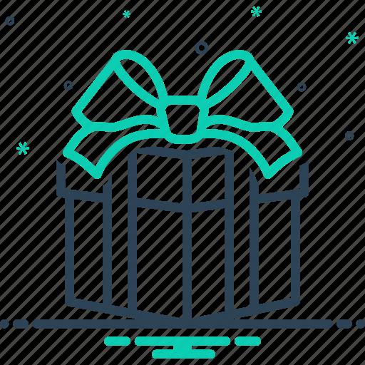 bounty, contribution, fairing, gift, giveaway, present, souvenir icon