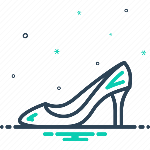 accessory, fashionable, footwear, glamour, heel, pair, sandal icon