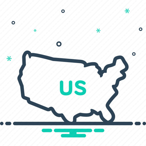boundary, country, land, map, states, united, us icon