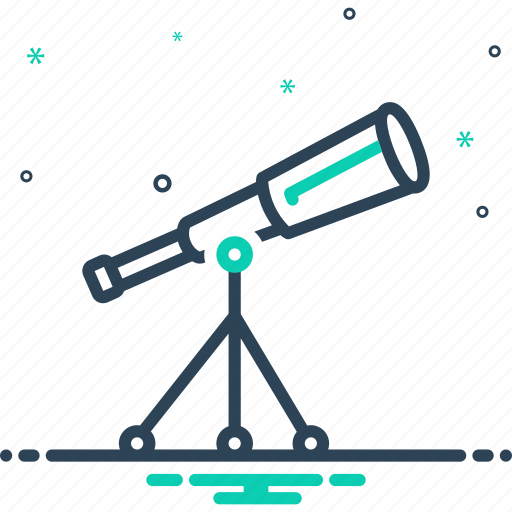 astronomy, discovery, instrument, magnification, observe, spyglass, telescope icon