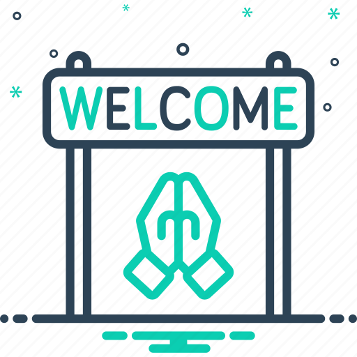 acceptance, acclamation, compliment, greeting, praise, reception, welcome icon