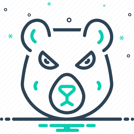bear, dangerous, face, grizzly, hunting, omnivores animal, polar bear icon
