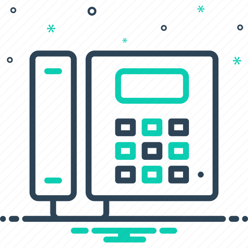 cellular, communication, connection, device, landline, phone, telephone icon