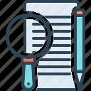 define, describe, document, edit, elucidate, interpret, paper