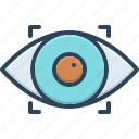 biometric, eye, observe, recognition, recognize, retina, scanner icon