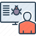 bug, observation, perception, picture, qa, recognition, viewpoint icon