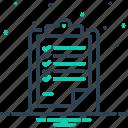 description, detail, document, narration, paraphrase, report, statement icon