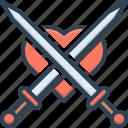aggression, attack, disarm, invasion, onslaught, sharp, sword