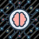 brain, humanoid, intelligence, intelligent, linguistic, machine, nervous icon