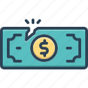 bankruptcy, economy, financial, impairment, loss, lower, money icon