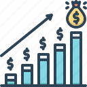 analytics, banking, economy, financial, market, moneybag, profit