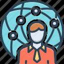 agent, attorney, delegate, negotiator, proxy, representative icon