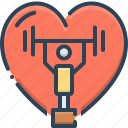 nutrition, yoga, salubrious, exercise, dumbbells, healthful, healthy icon