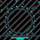 barrier, border, borderline, boundary, circle, limit, range