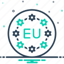 banner, community, continent, country, european, flag, union