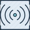 stream, volume, sound, multimedia, router, broadcast, communication