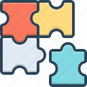 infographic, complicated, complex, difficult, puzzle, recognize, involved icon