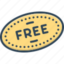 freebies, liberated, free, offer, label, item, badge