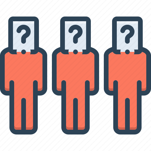 What, respondent, prisoner, question, who, defendant, remonstrant icon - Download on Iconfinder