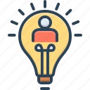 entrepreneur, electrical, thinker, lightbulb, conclusion, creativity, bulb icon