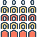 assemble, team, congregation, conglomeration, group, cluster, gather icon