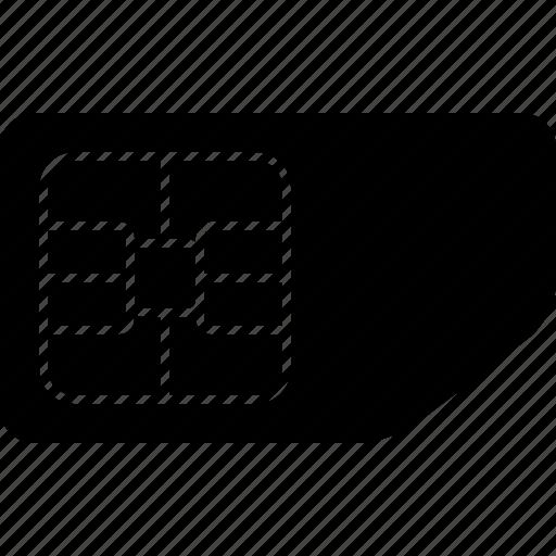 card, microchip, sim, simcard icon