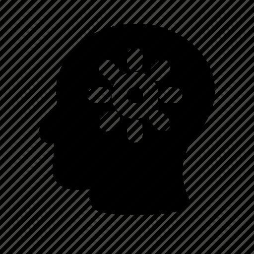 face, human, mem, meme, think icon