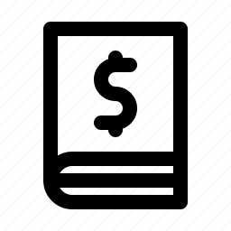 bankbook, dollar, finance, money icon