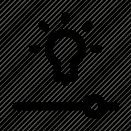 efficacy, home, lamp, settings, slider, smart icon